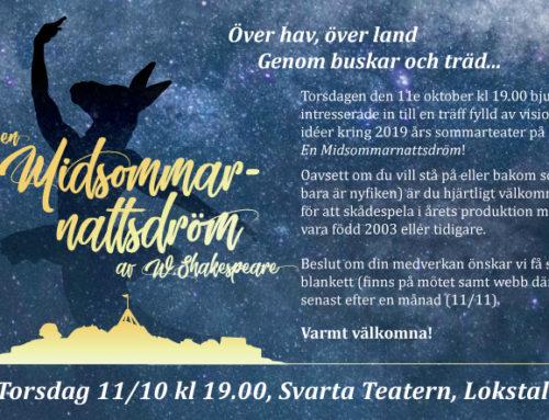Infomöte inför 2019 års sommarteater!